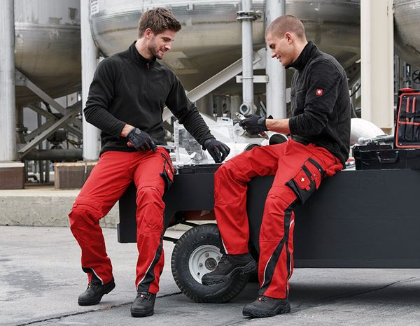 Work Trousers: Trousers e.s.motion Winter + red/black 2