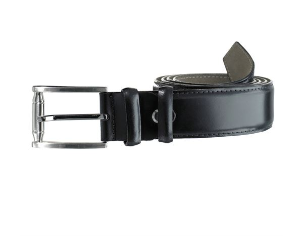 Accessories: Leather belt Benson + black