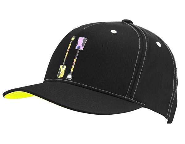 Accessories: e.s. Cap Pop Art + black/sulphuryellow/purple