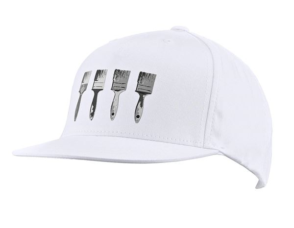 Accessories: e.s. Cap Pop Art, children's + white