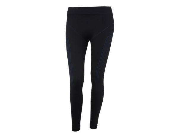 Thermal Underwear: e.s. functional long-pants seamless - warm,ladies' + black/gentian blue