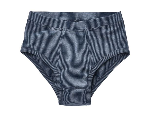 Underwear | Functional Underwear: e.s. Slip fine rib classic, pack of 2 + navy striped