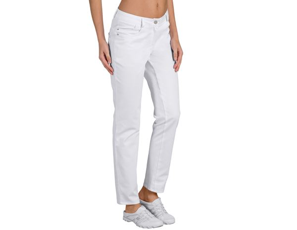 Work Trousers: Ladies' Trousers Jessica + white