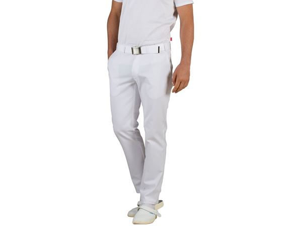 Medical / Healthcare Trousers: Men's Trousers Emil + white