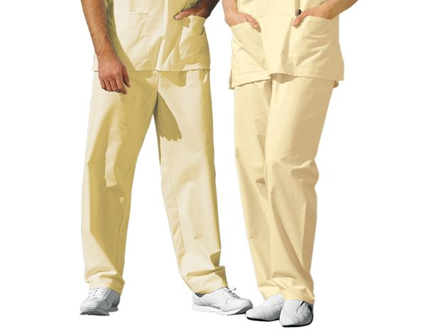 Medical / Healthcare Trousers: OP-Trousers + pastel yellow