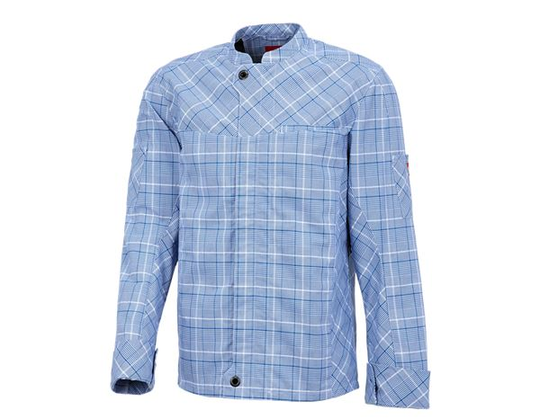 Shirts, Pullover & more: Work jacket long sleeved e.s.fusion, men's + blue/white
