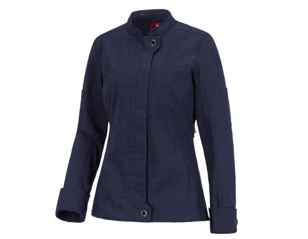 Shirts, Pullover & more: Work jacket long sleeved e.s.fusion, ladies' + navy