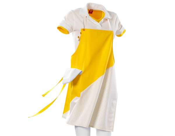Shirts, Pullover & more: Bib Apron Wels + yellow/white