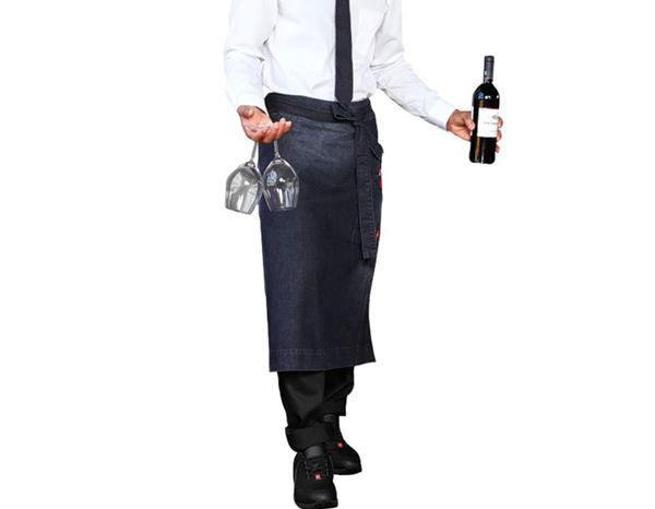 Aprons: Catering Apron denim e.s.fusion, men's + stonewashed