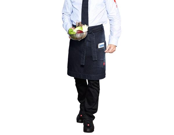 Aprons: Mid-Length Apron denim e.s.fusion, men's + stonewashed