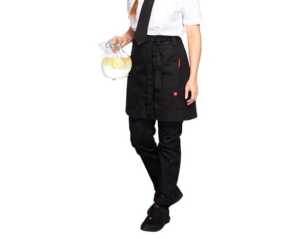 Shirts, Pullover & more: Mid-Length Apron denim raw e.s.fusion, ladies' + black