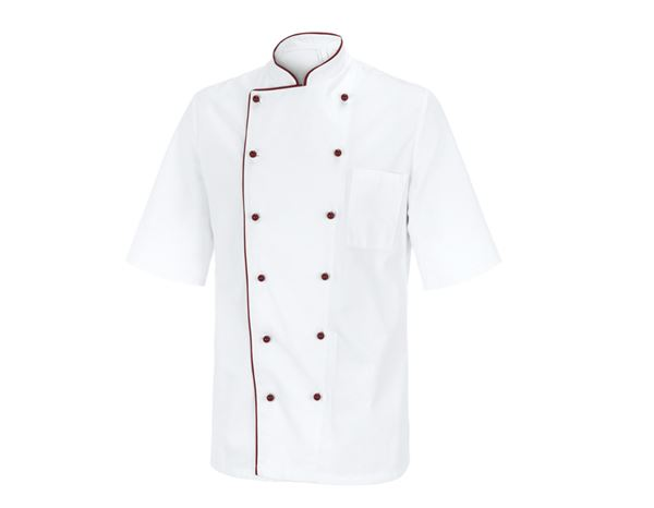 Shirts, Pullover & more: Chefs Jacket Marseilles + white/bordeaux