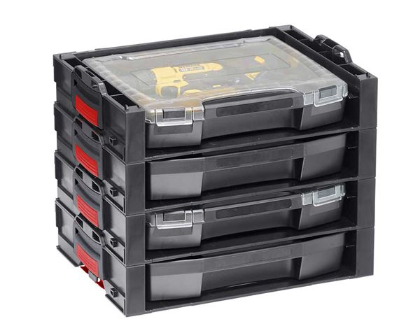 System boxes: e.s. i-Rack active + black/red 4