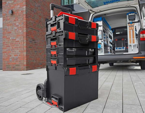 System boxes: e.s. i-Rack active + black/red 5