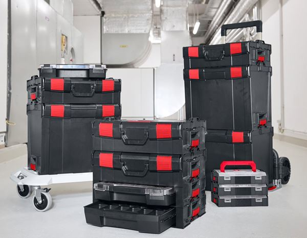 System boxes: e.s. i-Rack active + black/red 11