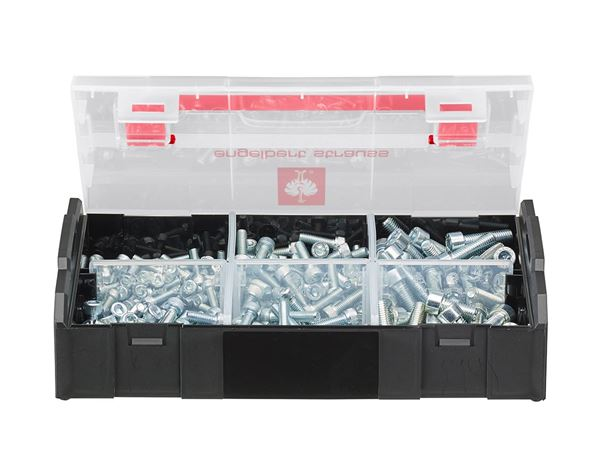System boxes: Hex-head cap screws, ISO 4762, 225 pieces
