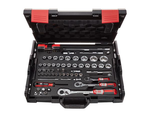 Tool Cases: e.s. Socket wrench set pro 1/4+3/8+1/2 in Boxx102