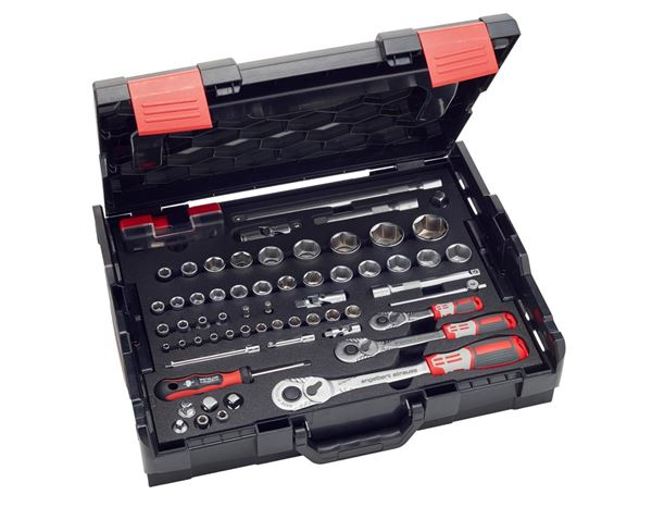 Tool Cases: e.s. Socket wrench set pro 1/4+3/8+1/2 in Boxx102 2