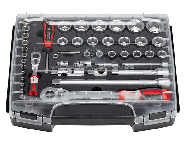 Tool Cases: e.s. Socket wrench set pro 1/4+1/2 in i-Boxx72 1