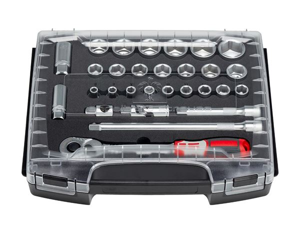 Spanners / Ratchets: e.s. Socket wrench set pro 1/2 in e.s. i-Boxx 72 2
