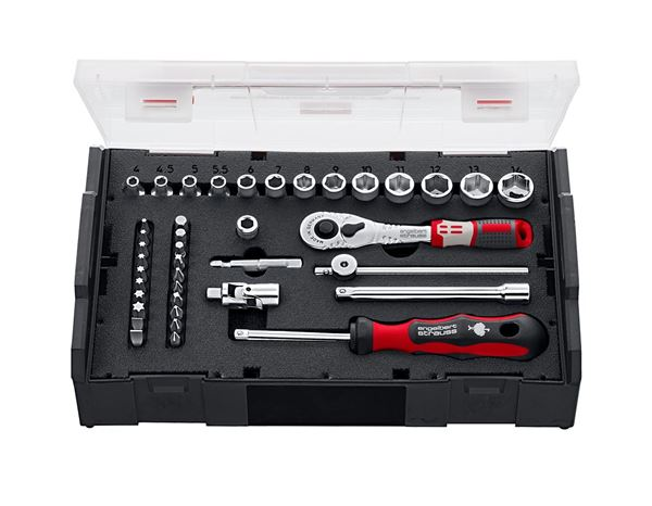 Tool Cases: e.s. Socket wrench set pro 1/4 in e.s. Boxx mini
