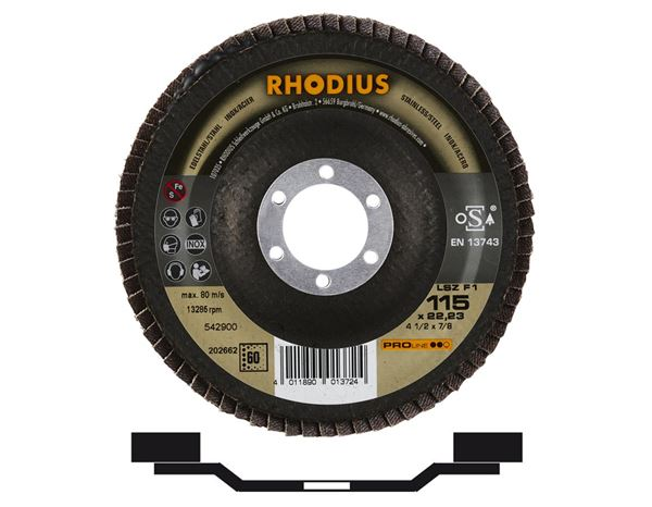Cutting- / Sanding Discs: Flap discs for stainless steel / steel INOX