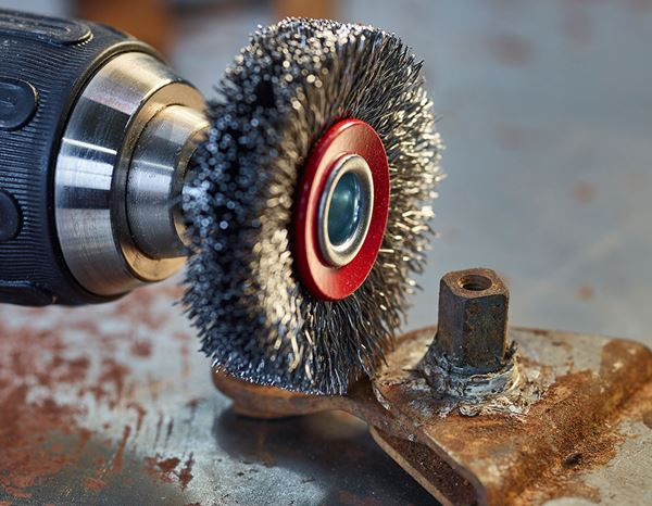 Sanding tools: Wire Wheel Brush with arbor 1