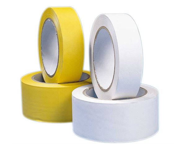 Plastic bands | crepe bands: Plastic adhesive tape, yellow and white + yellow