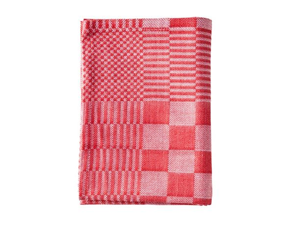 Towels: e.s. Tea towels solid, pack of 3 + red