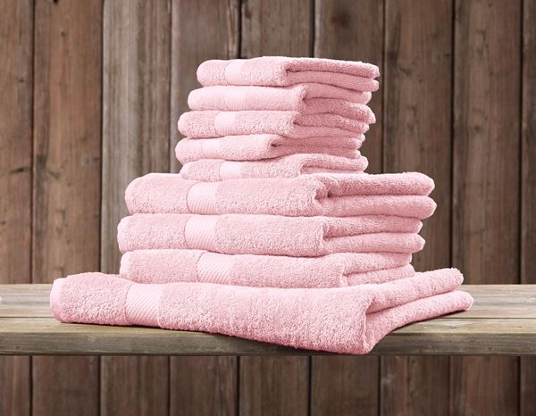 Towels: Terry cloth towel Premium pack of 3 + light pink 1