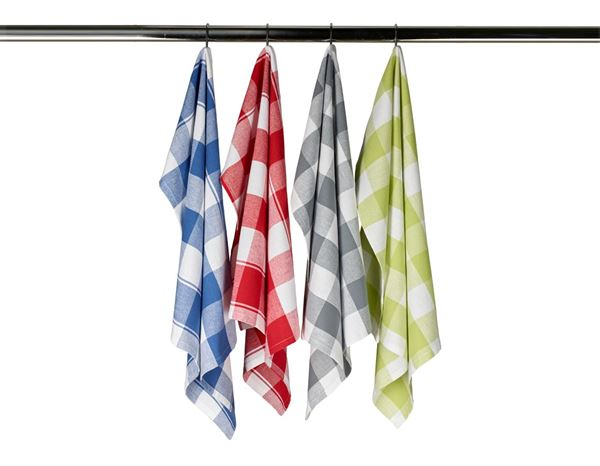 Towels: Tea towels Color, pack of 3 + red