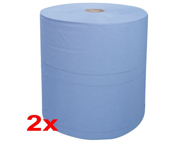 Towels: Industrial cleaning paper on rolls, pack of 2