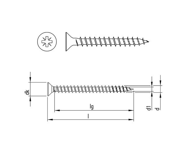 Screws: HECO-FIX-plus® univers. screw Countersunk PZ VG zn 1