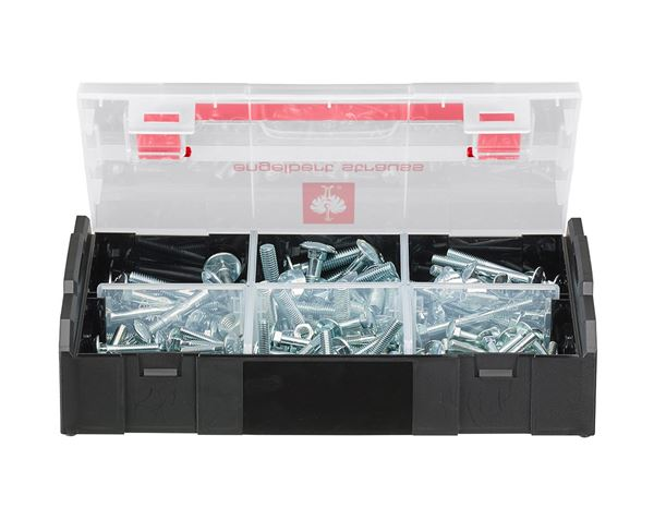 System boxes: Cup square bolt, DIN 603, 125 pieces