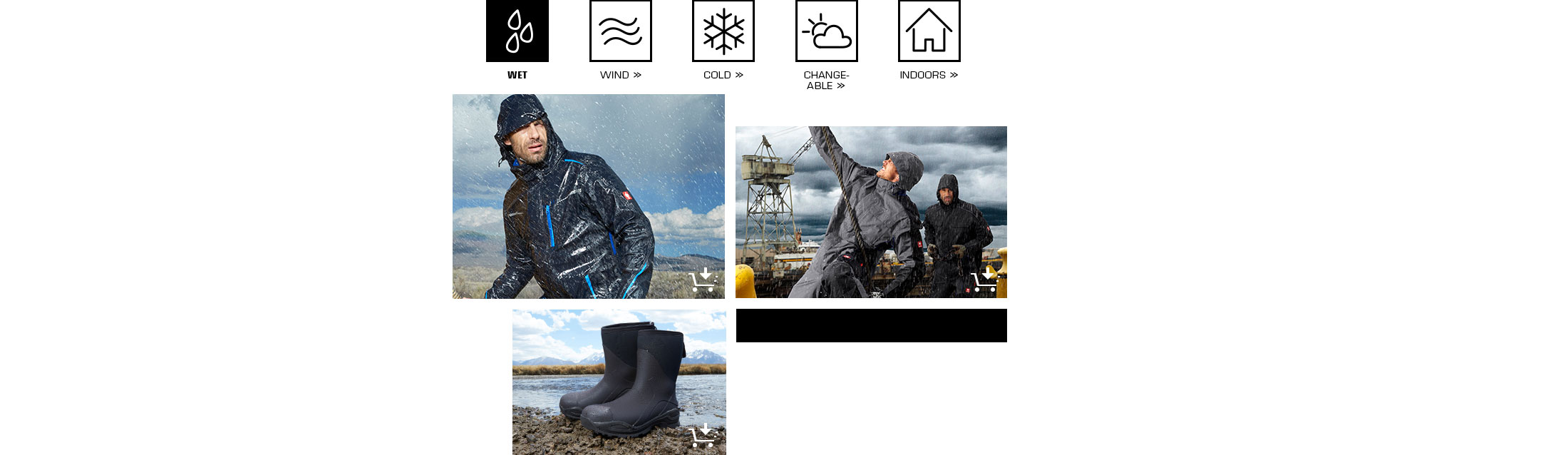 engelbert strauss workwear protects against the wet